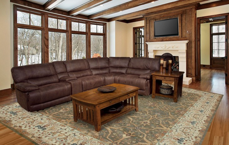Pegasus Dark Kahlua Reclining Sectional