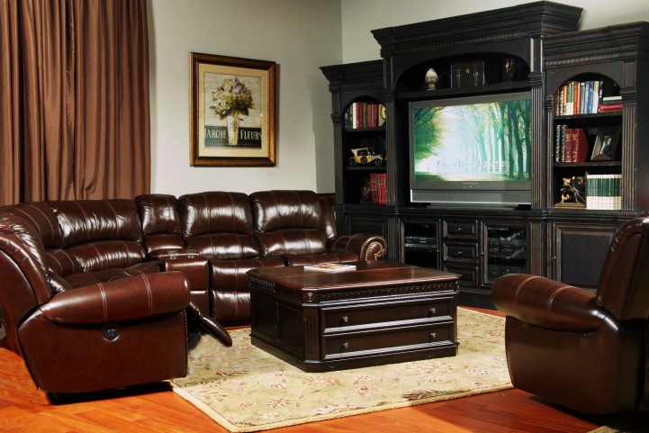 Poseidon Cocoa Reclining Sectional