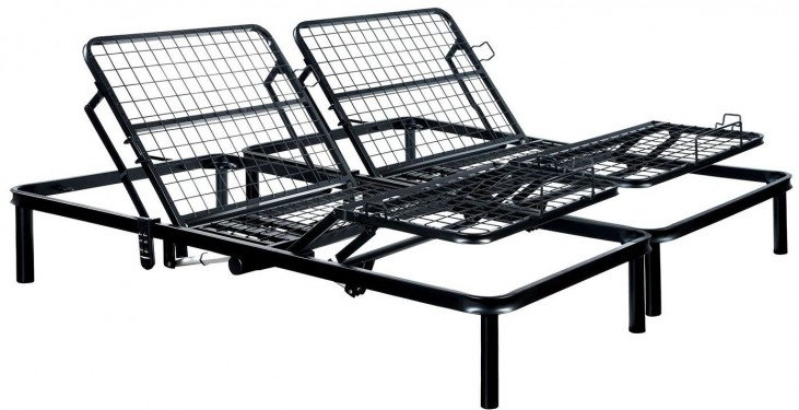 Framos III Black Eastern King Adjustable Bed Frame