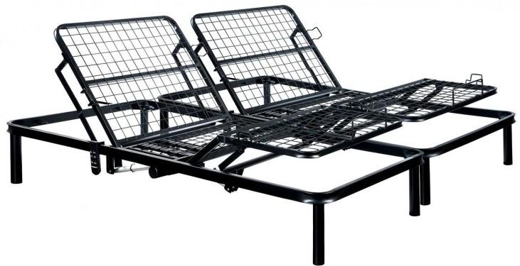 Framos III Black Eastern King Adjustable Bed Frame