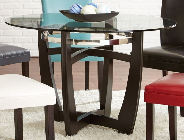 Matinee Glass Top Round Dining Table