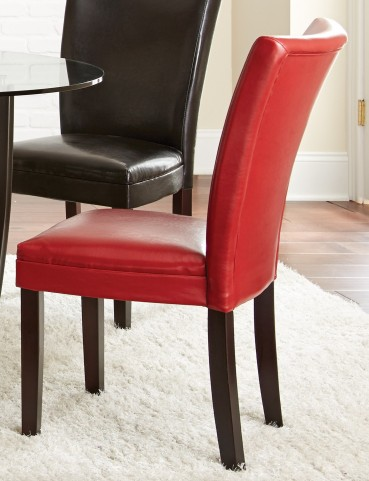 Matinee Red Bonded Leather Chair Set of 2