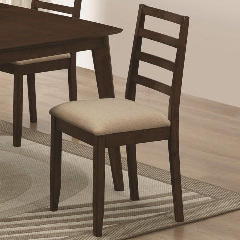 Mulligan Medium Brown Upholstered Dining Chair Set of 2