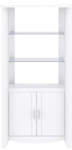 Aero White 2-Door Tall Library Storage