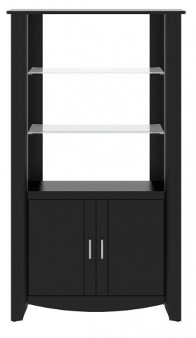 Aero Classic Black 2-Door Tall Library Storage
