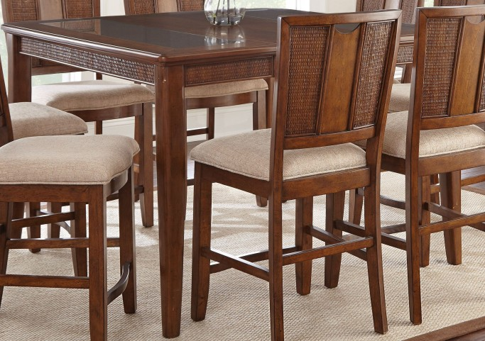 Melody Warm Honey Extendable Rectangular Counter Height Dining Table