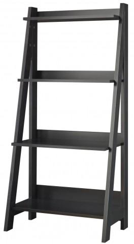 Alamosa Classic Black Ladder Bookcase