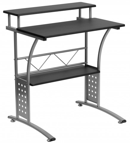 Cliftons Black Computer Desk