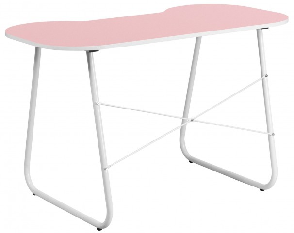 Pink Desk with White Frame