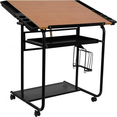 Adjustable Black Drafting Table
