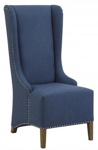 Naomi Blue High Back Accent Chair