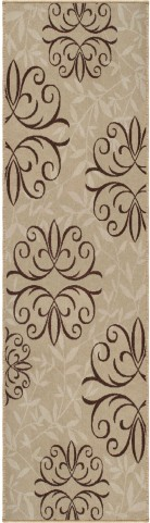 Orian Rugs Indoor/Outdoor Medallion Josselin Beige Area Medium Rug