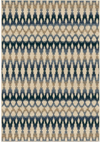 Orian Rugs Indoor/Outdoor Southwest Links Ikat Ombre Multi Area Small Rug