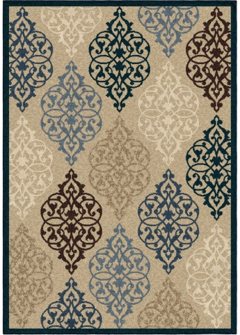 Orian Rugs Indoor/Outdoor Scroll Hastings Multi Area Small Rug
