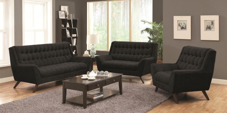 Natalia Black Living Room Set
