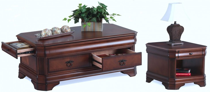 Sheridan Burnished Cherry Occasional Table Set
