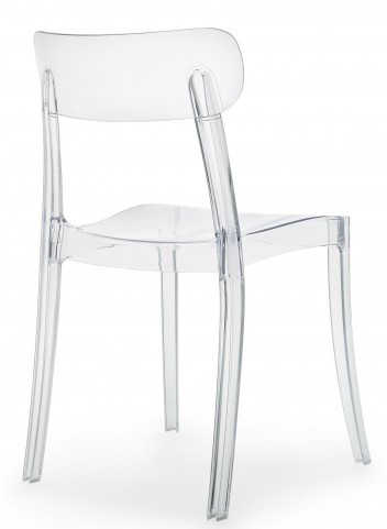 New Retro Transparent Stacking chair Set of 4