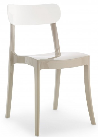 New Retro White Stacking chair Set of 4