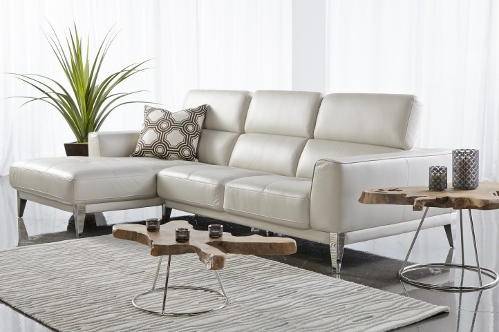 Peninsula Snow Leather Nico LAF Sectional