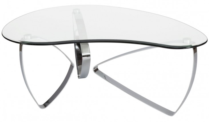 Nico Chrome Chromed Plated Shaped Cocktail Table