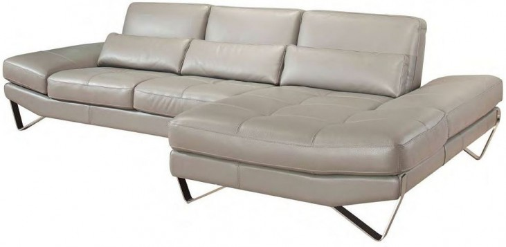 833 Italian Leather RAF Sectional