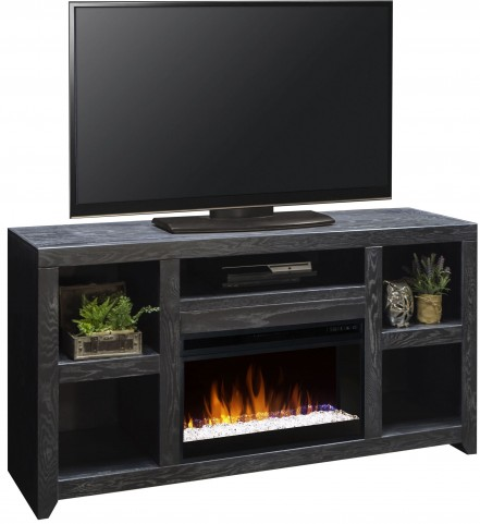 "Night Moves Gunmetal 62"" Fireplace Console"
