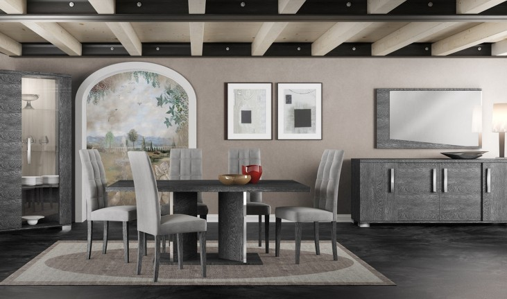 Vivente Grey Birch Noble Extendable Dining Room Set