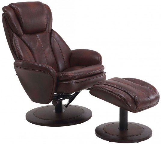 Norway Whisky Breathable Swivel Recliner with Ottoman