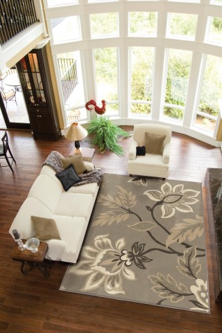 "Nuance Lily Taupe Large 130"" Rug"