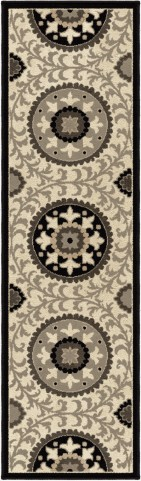 "Nuance Annex Taupe Runner 96"" Rug"