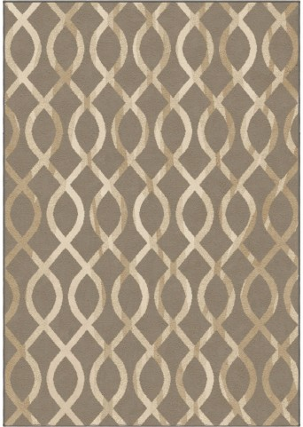 Orian Rugs Trendy Colors Trellis Geo Loop Taupe Area Small Rug