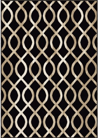 Orian Rugs Trendy Colors Trellis Geo Loop Black Area Small Rug