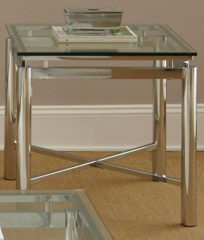 Nova Glass Top Rectangular End Table