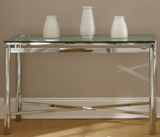 Nova Glass Top Rectangular Sofa Table