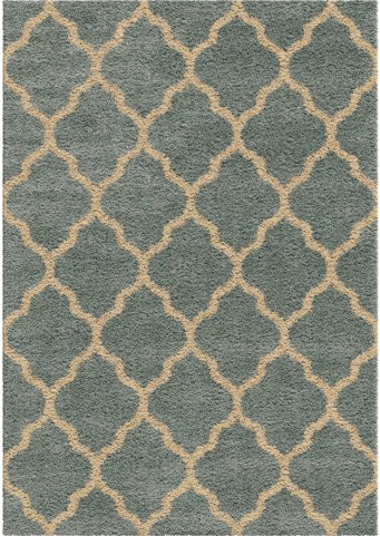 Orian Rugs Plush Trellis Malton Blue Area Small Rug