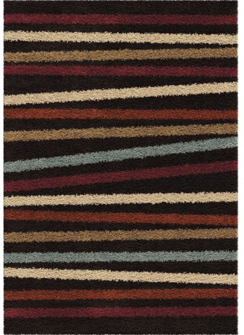 Orian Rugs Plush Stripes Belly Band Multi Area Large Rug