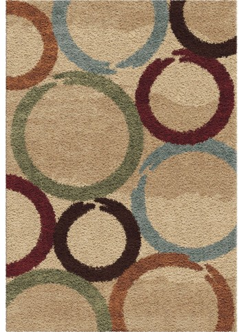 Orian Rugs Plush Circles Hand Drawn Circles Multi Area Large Rug