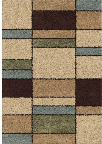 Orian Rugs Plush Squares Hartlepool Multi Area Large Rug