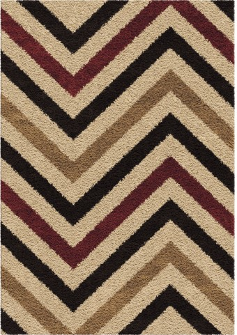 Orian Rugs Plush Chevron Tebay Multi Area Small Rug