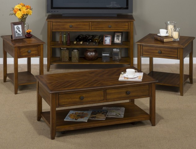 Medium Brown Occasional Table Set