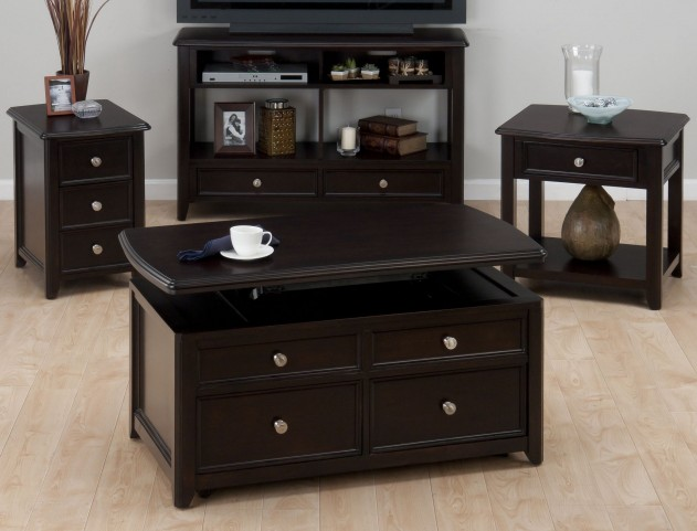 Coronado Espresso Lift Top Occasional Table Set