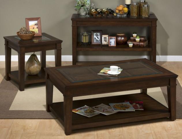 Lexington Brown Occasional Table Set