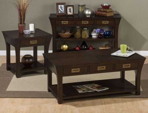 Artisan Dark Brown Occasional Table Set