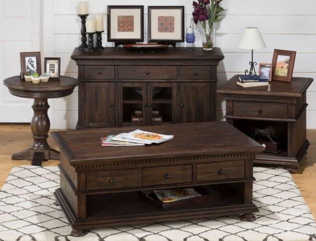Geneva Hills Rustic Brown Occasional Table Set