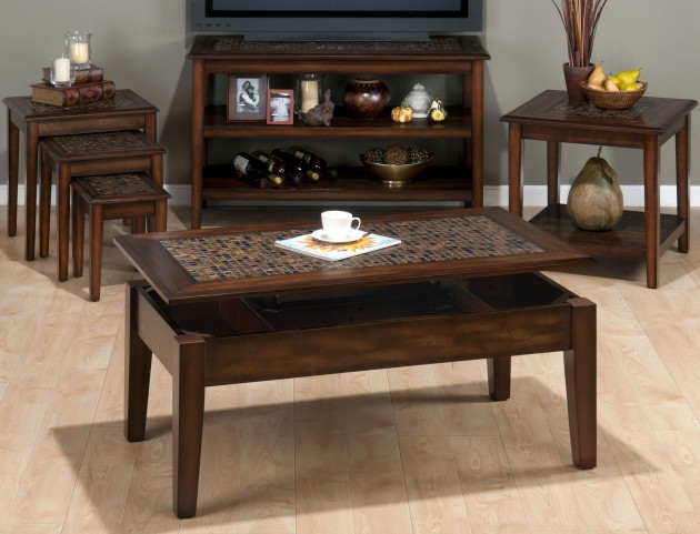 Baroque Brown Occasional Table Set