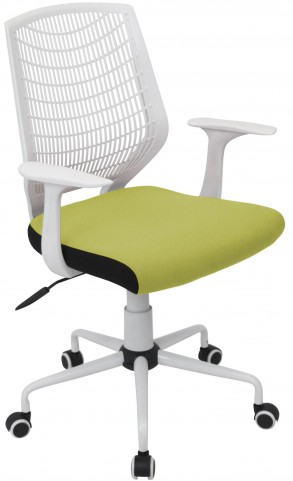 Network White/Green Office Chair