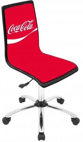 Coca Cola Printed Office Red Chair