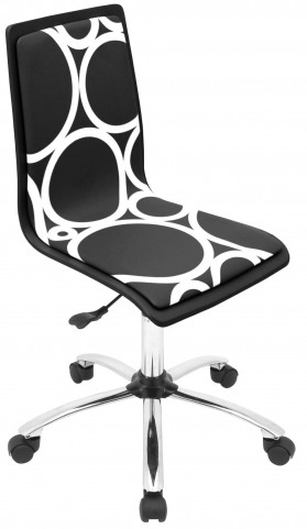 Printed Office Black Circles Chair