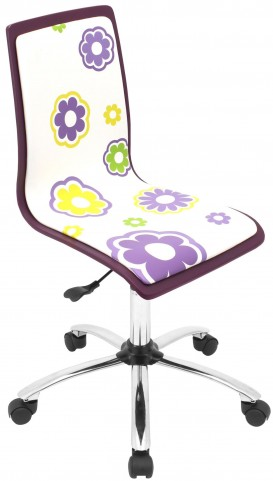 Printed Office Daisies Chair