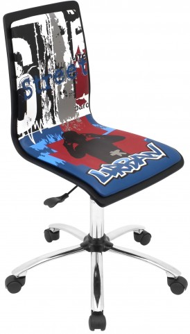 Printed Office Graffiti Chair